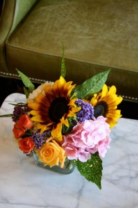 Bridal Bouquet featuring Clear Creek Organics zinnias.