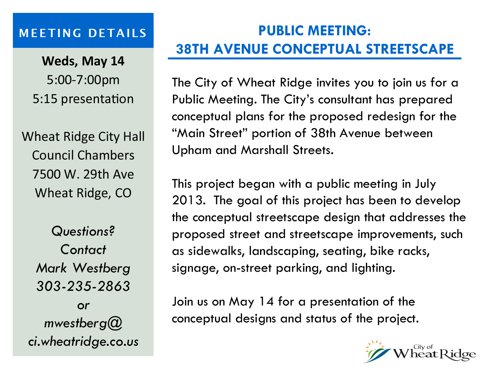 Single postcard - 38th Streetscape Mtg - May 2014-1